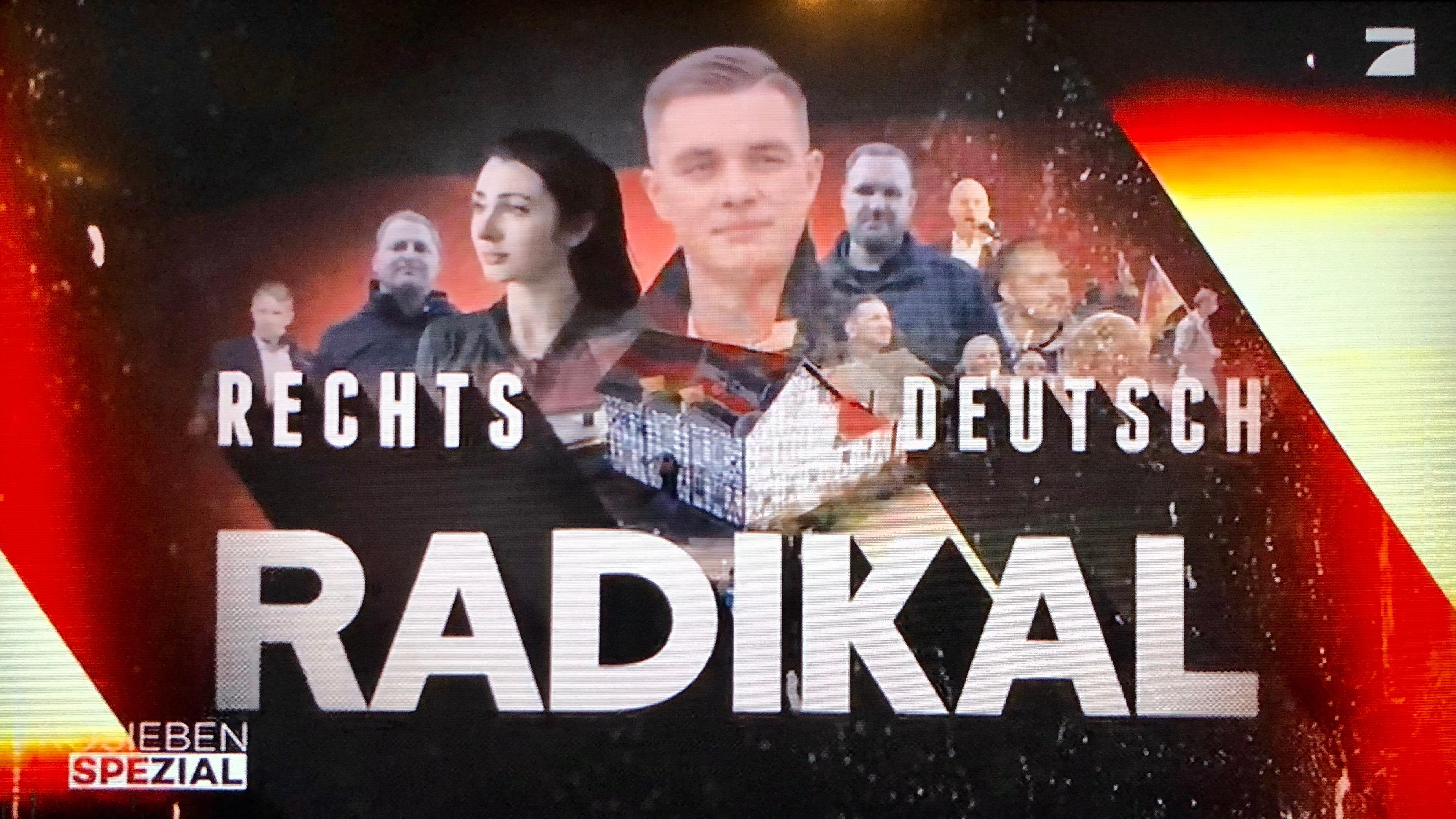 """Medienkorrespondenz: """"Rechts. Deutsch. Radikal."""" Als Pro Sieben auffiel,  weil der Privatsender politische Information statt Unterhaltung bot"""